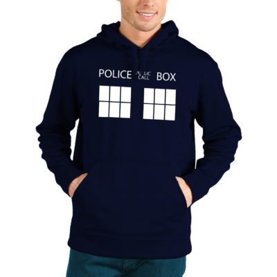 dr who police box hoodie