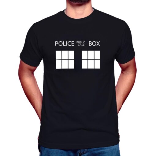 doctor who tardis police box t shirt