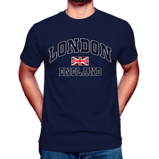London Englang with Union Jack Flag T-Shirt