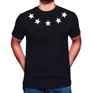 Stars Around The Neck T-Shirt uk black