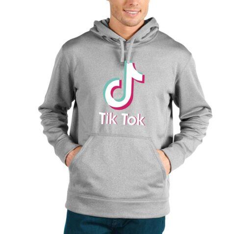 tik tok musical hoodie heather grey