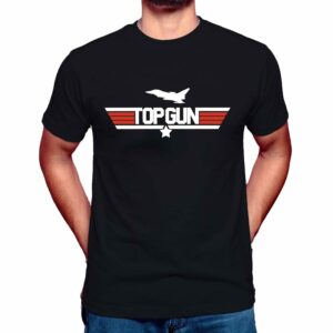 top gun t-shirt maverick mens black