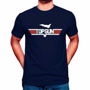 top gun t-shirt maverick mens navy blue