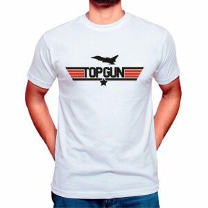 top gun t shirt mens white