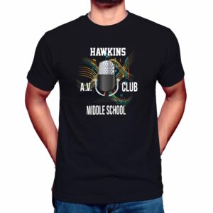 hawkins av club t shirt stranger things