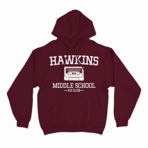hawkins middle school av club hoodie stranger things