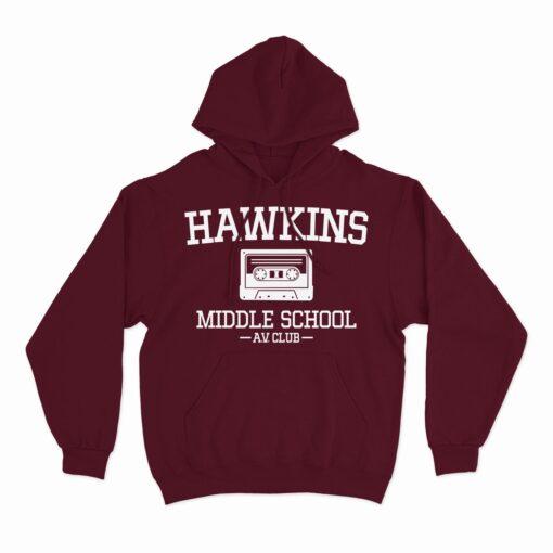 hawkins middle school hoodie
