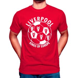 Liverpool FC Kings of Europe T Shirt Sale Online