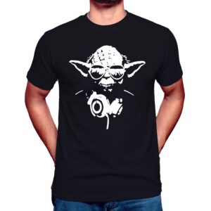 dj yoda with headphones t shirt