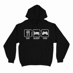 eat sleep cod repeat hoodie