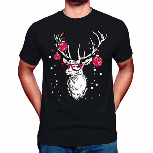 professor reindeer christmas t-shirt