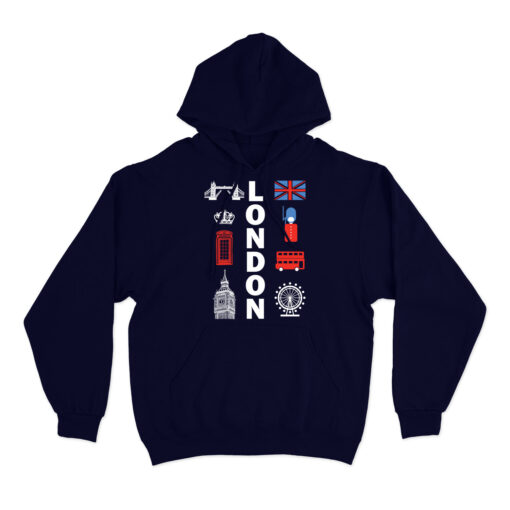 London Souvenir Hoodie attractions