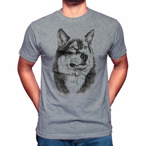 wolf head t shirt