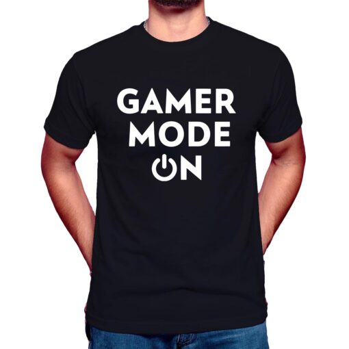 gamer mode on t shirt black Funny Gamer Tee