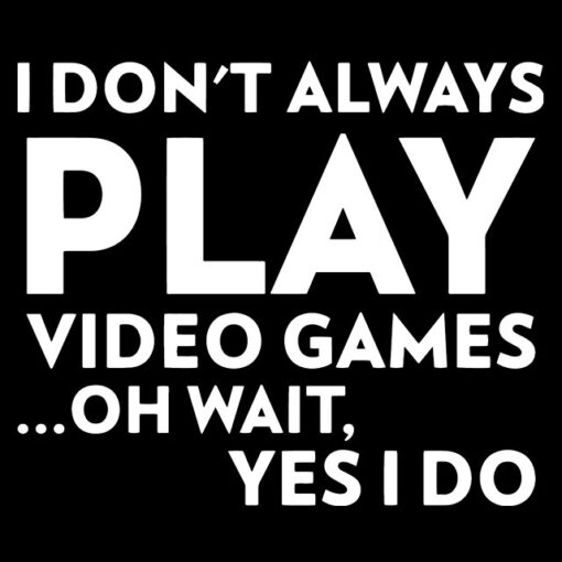 i don't always play video games oh wait yes i do