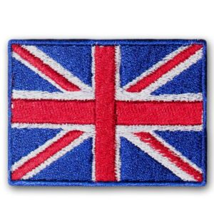 Blue Union Jack Patch Iron On - British UK Flag Embroidered