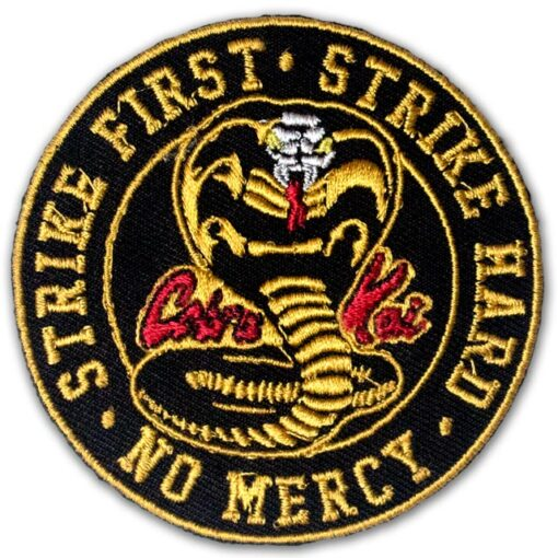 Embroidered Cobra Kai Iron On Patch Sew On Badge