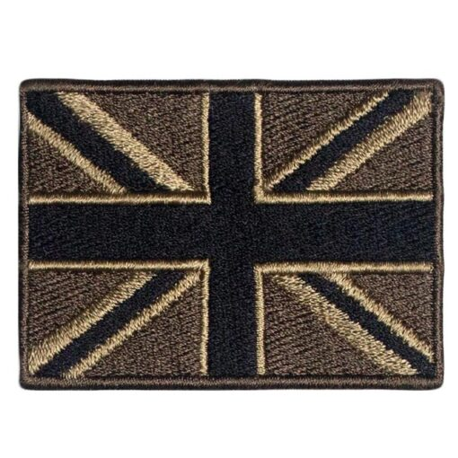 Embroidered Tactical Union Jack Patch Iron On - British UK Flag