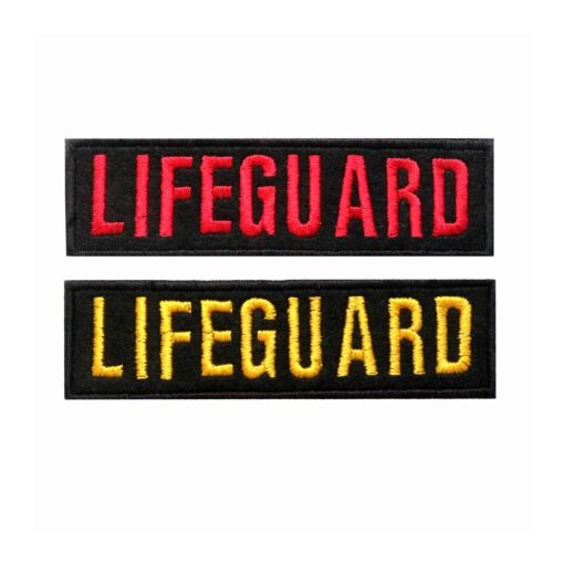 Embroidered Lifeguard Patch Iron On